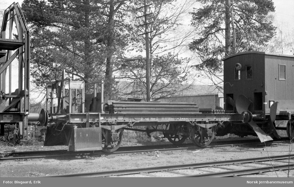 Ballastplog litra X nr. 15394 på Elverum stasjon