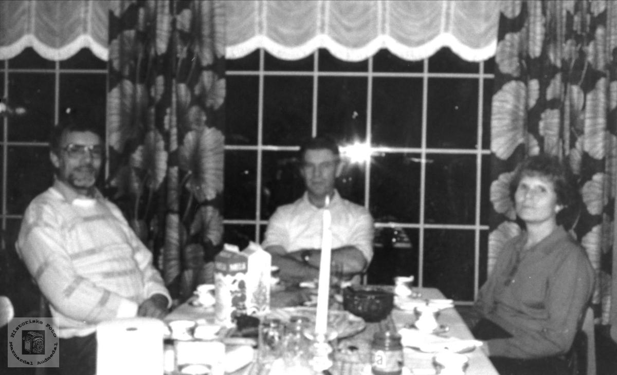 Søskenflokken Gunnar, Aslak og Anlaug Bruskeland.