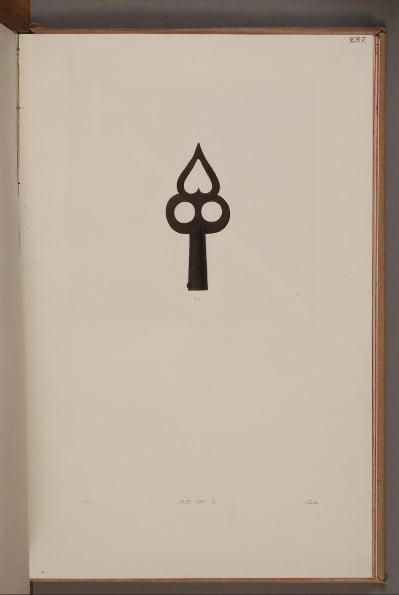 Avbildning i gouache föreställande detalj av fälttecken taget som trofé av svenska armén. Fanan finns bevarad i Armémuseums samling, för mer information, se relaterade objekt.