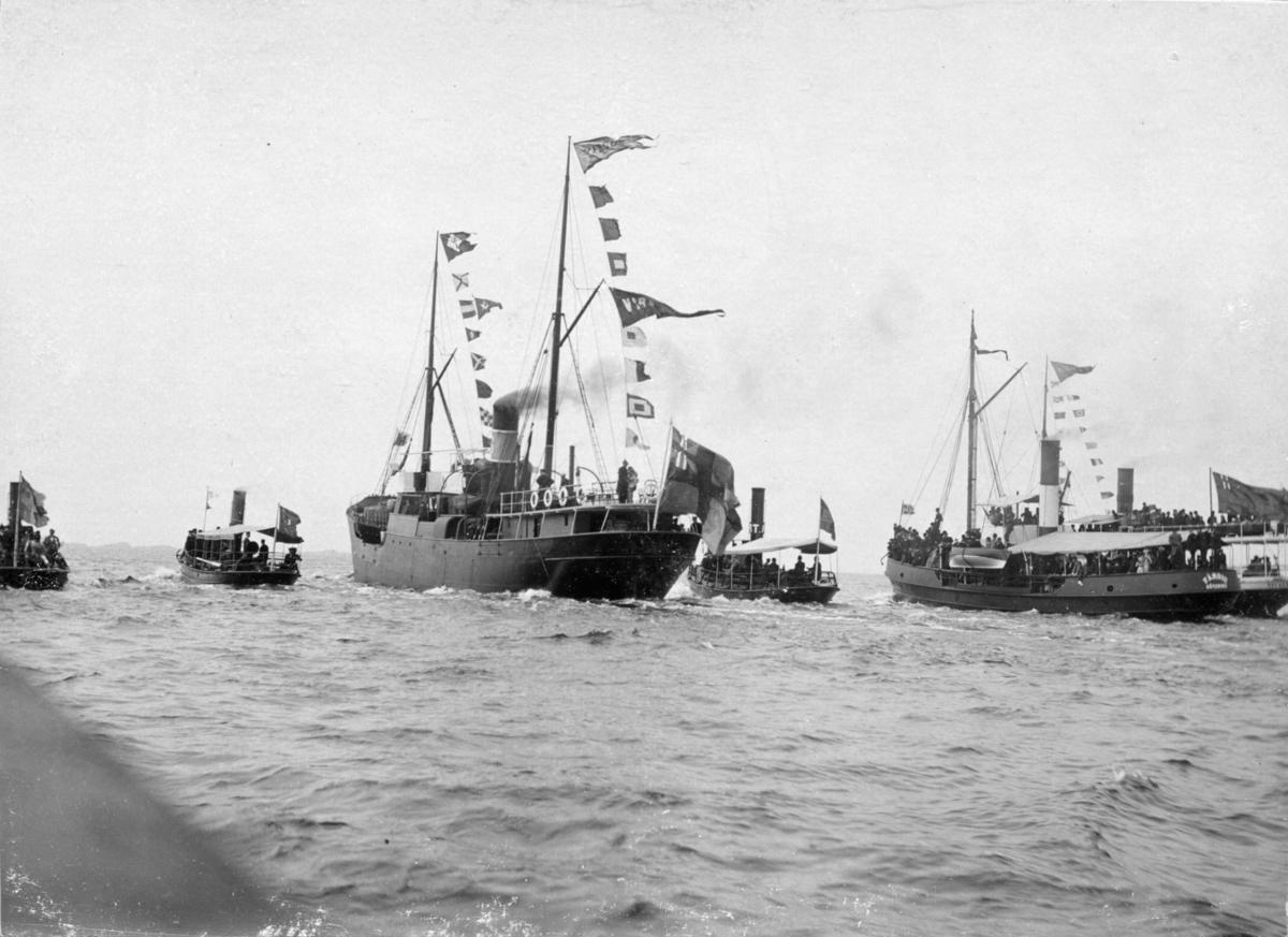 Avresa från Göteborg med Virgo, 7 juni 1896.