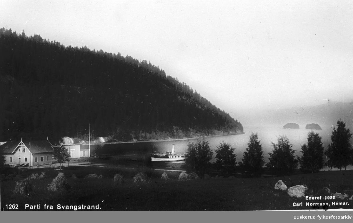 D/S Tyrifjord legger til kai ved Svangstrand brygge Tyrifjorden 1920