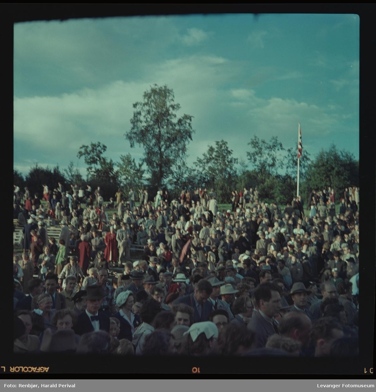 """Fra Stiklestad,  den første oppsetningen av  """"Spelet om Heilag Olav"""""""