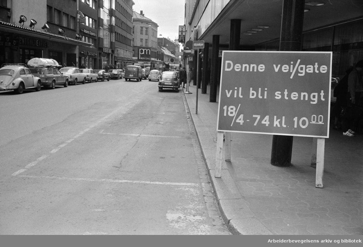 Akersgata,.april 1974