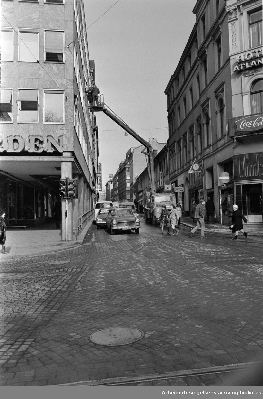 Akersgata. April 1970