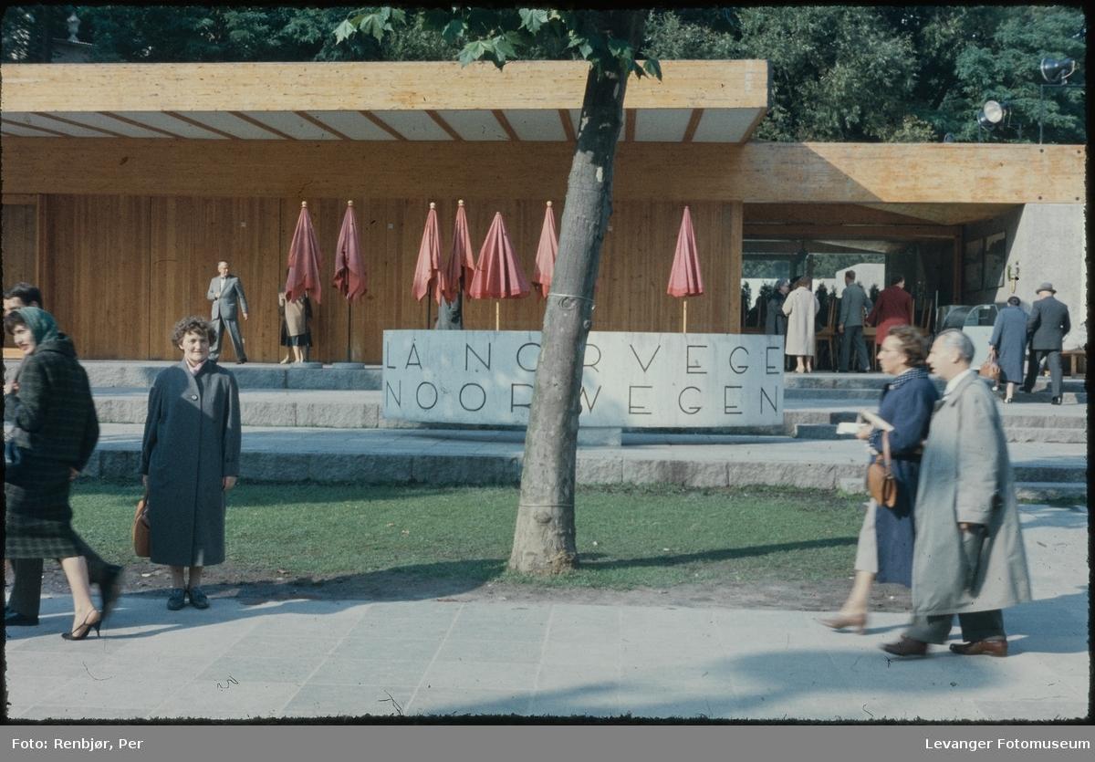 Fra verdensutstillingen Expo 1958 i Brussel, den norske paviljongen.