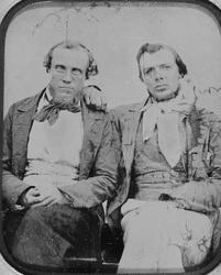 Portrett av to menn