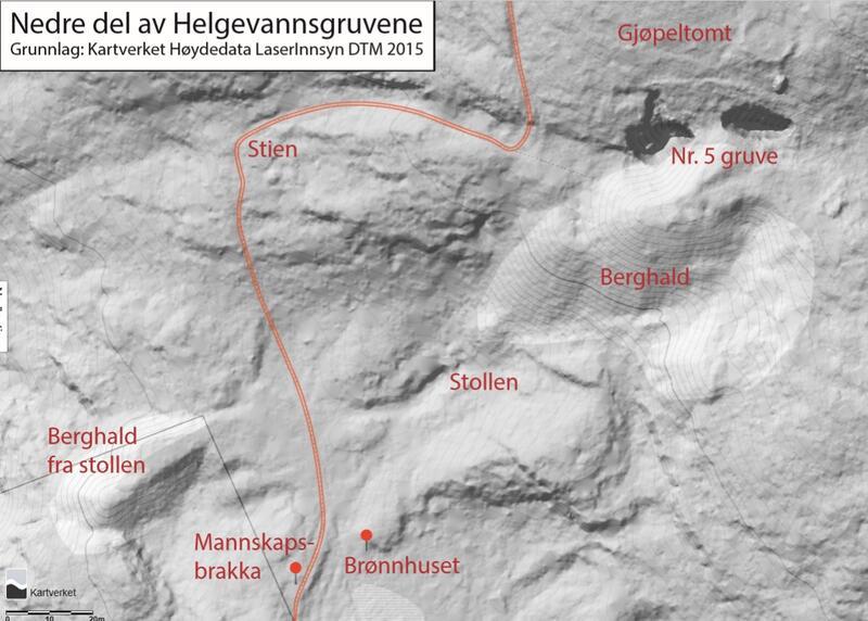 Kart Helgevanngruvene (Foto/Photo)