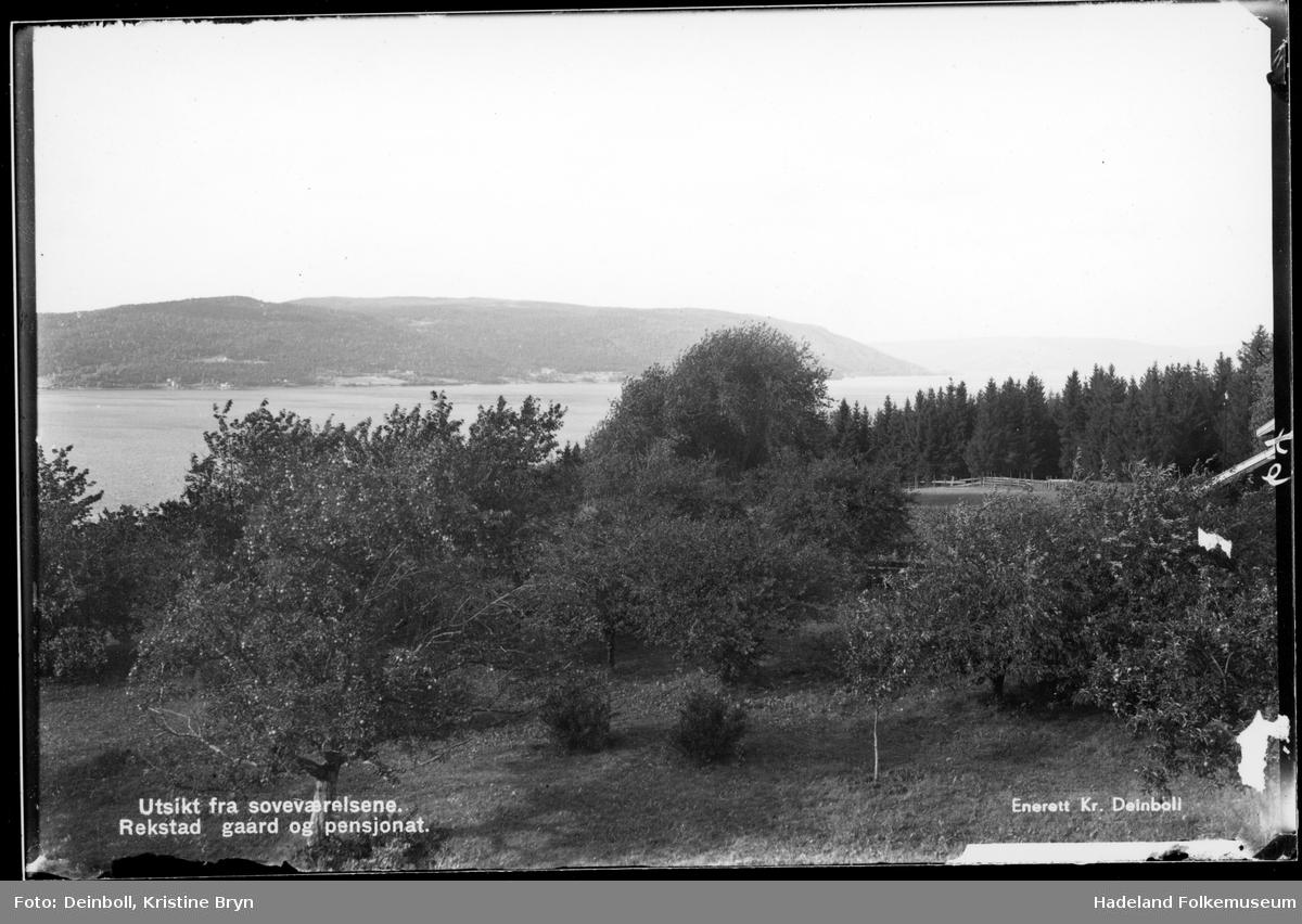 Utsikt fra Rækstad pensjonat, Brandbu.