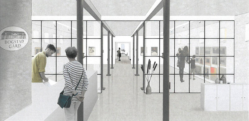 Skisse nye utstillingslokaler, Bogstad Gård (Foto/Photo)