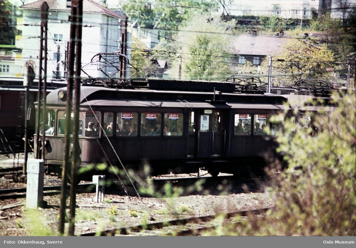 Majorstuen stasjon, sporområde, trikk