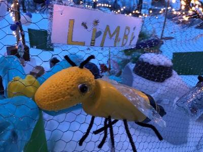 «Biegruppa har skrevet om utrydningstruede bier og tegnet noen ulike bier» (Foto/Photo)