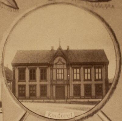 Historisk bilde, Administrasjonsbygget til Sølvverket (Foto/Photo)
