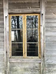 Detalj av vinduet før restaurering. Foto: Sten Hauer. (Foto/Photo)