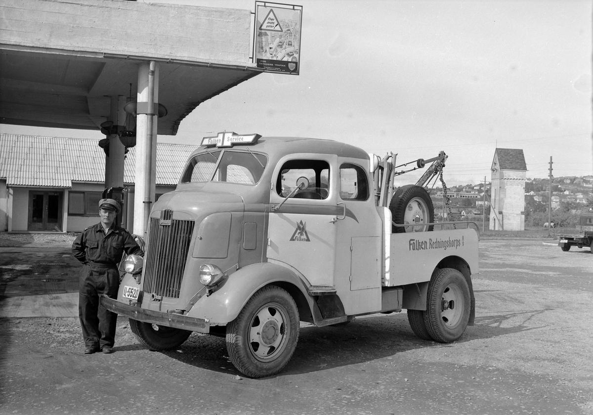 Servicebilen til Falken Redningskorps