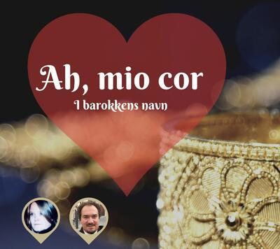 Hjerte og gullborkadebånd som illustrasjon for konserten Ah, mio cor - i barokkens navn.. Foto/Photo