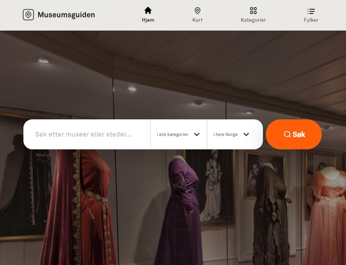 Museumsguiden.no er enkel å bruke. Skriv i søkefeltet eller sorter museene etter fylke eller kategori. (Foto/Photo)