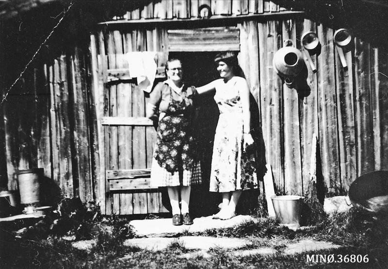 To budeier på en seter i Tynset. Foto: Anno Musea i Nord-Østerdalen. (Foto/Photo)