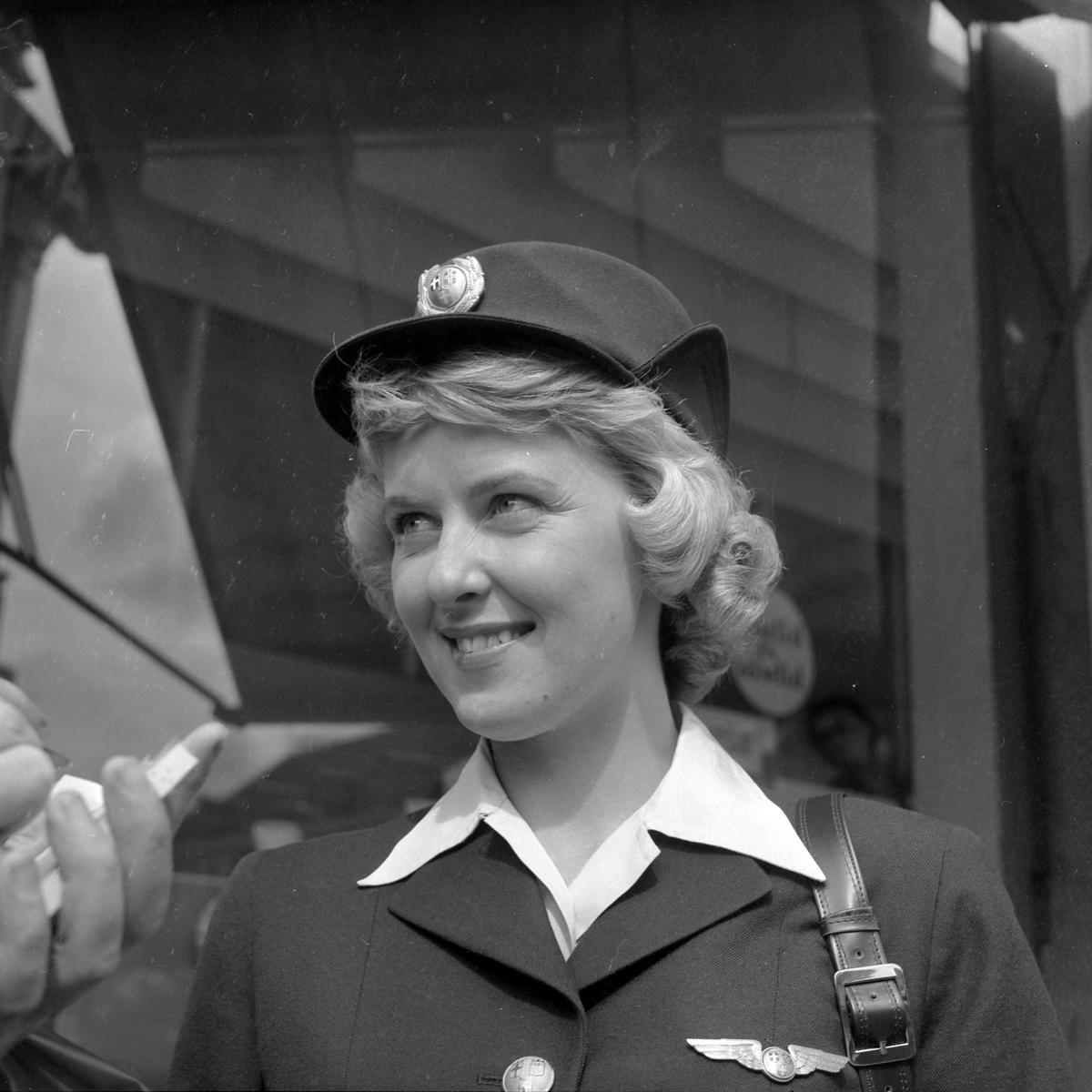 Flyvertinne Liv Rushfeldt i SAS