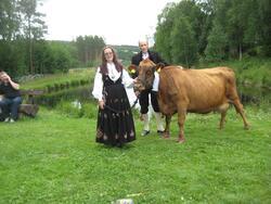 150-års jubileum for Dølafeet. Anne og Kåre Saglien med 1. p