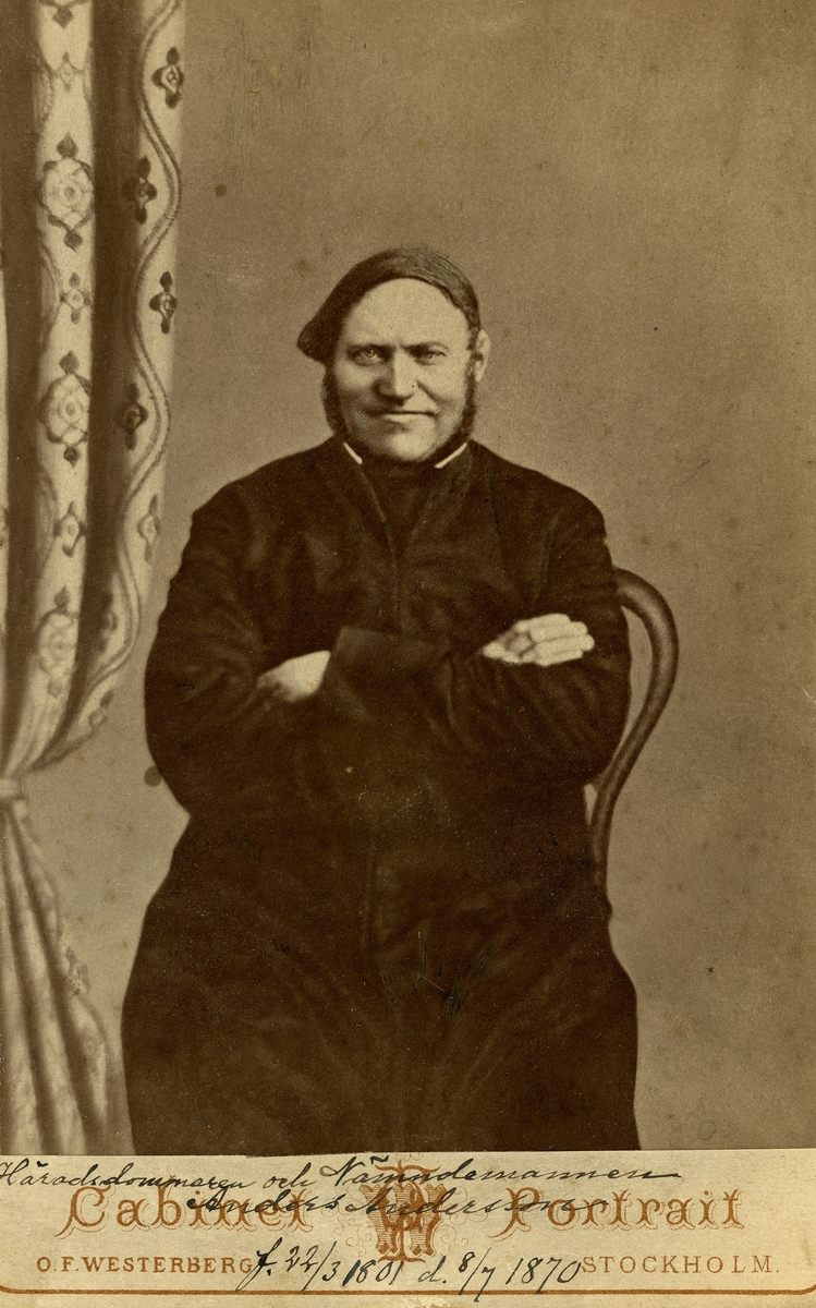 Siggebohyttans bergsmansgård.  Häradsdommaren och nämndemannen Anders Andersson, född 23 mars 1801, död 8 juli 1870)
