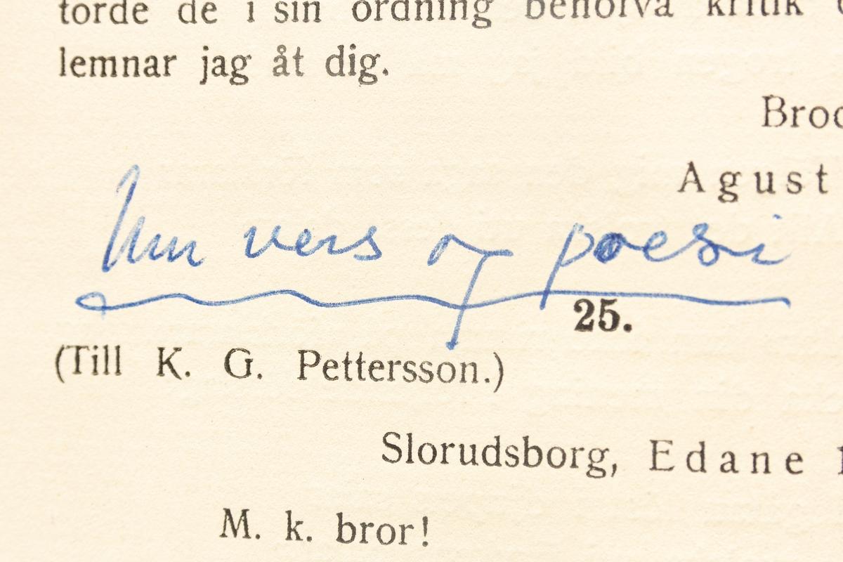 Gustaf Fröding: Brev