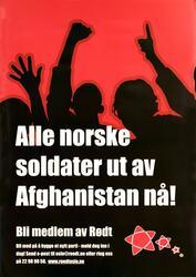 Alle norske soldater ut av Afghanistan nå!.Bli medlem av Rød