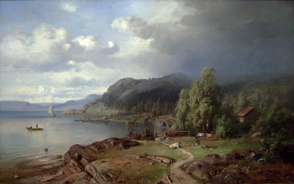 Parti fra Holmestrand [Maleri]