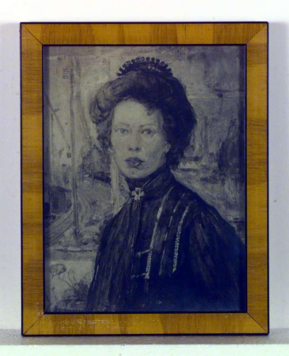 Portrett av en svensk malerinne, Thora Holmstrøm..