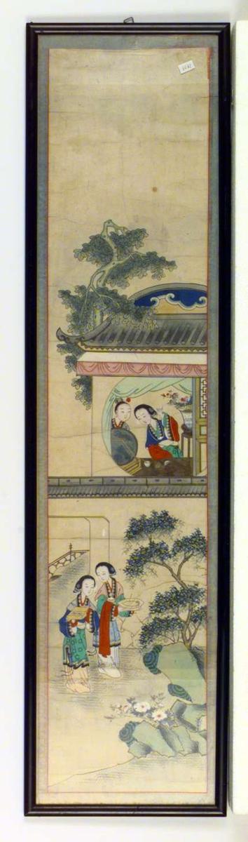 To motiver med japanske kvinner i tradisjonell klesdrakt.