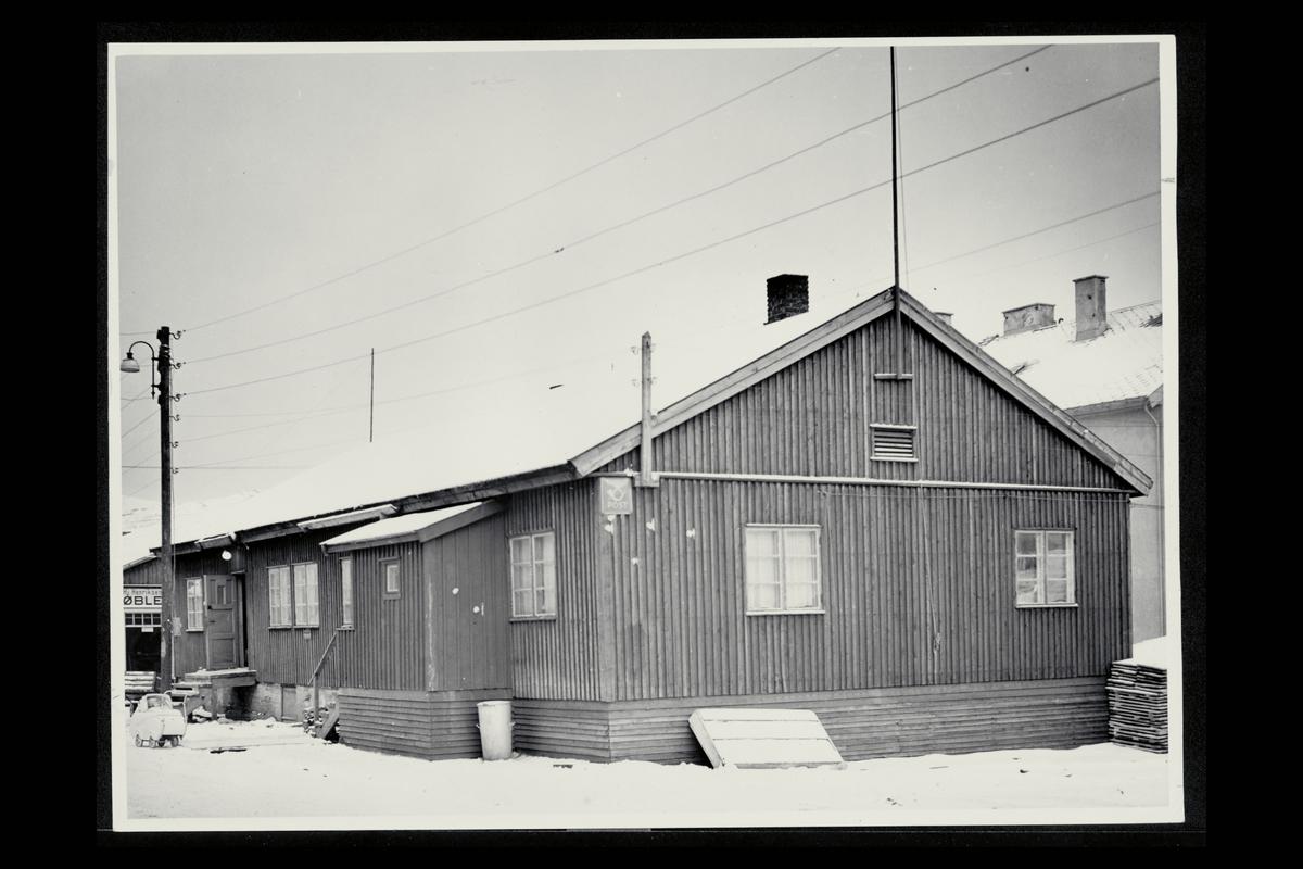 eksteriør, postkontor, 8600 Hammerfest, postskilt