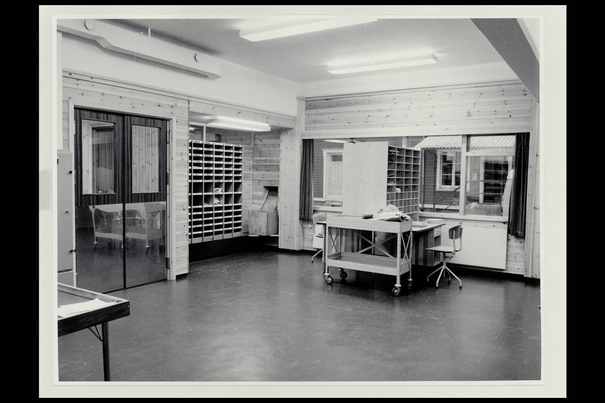 interiør, postkontor, 3950 Brevik, sortering