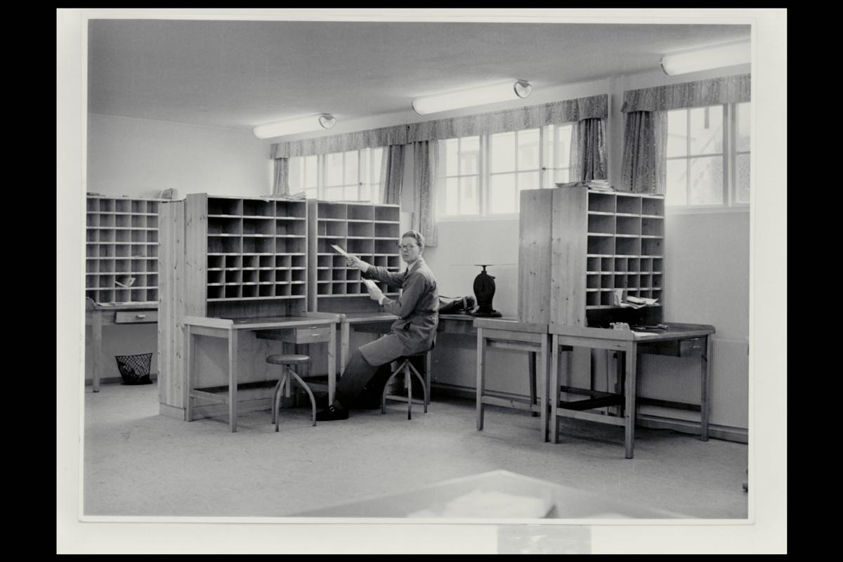 interiør, postkontor, 5400 Stord, sortering, vekt