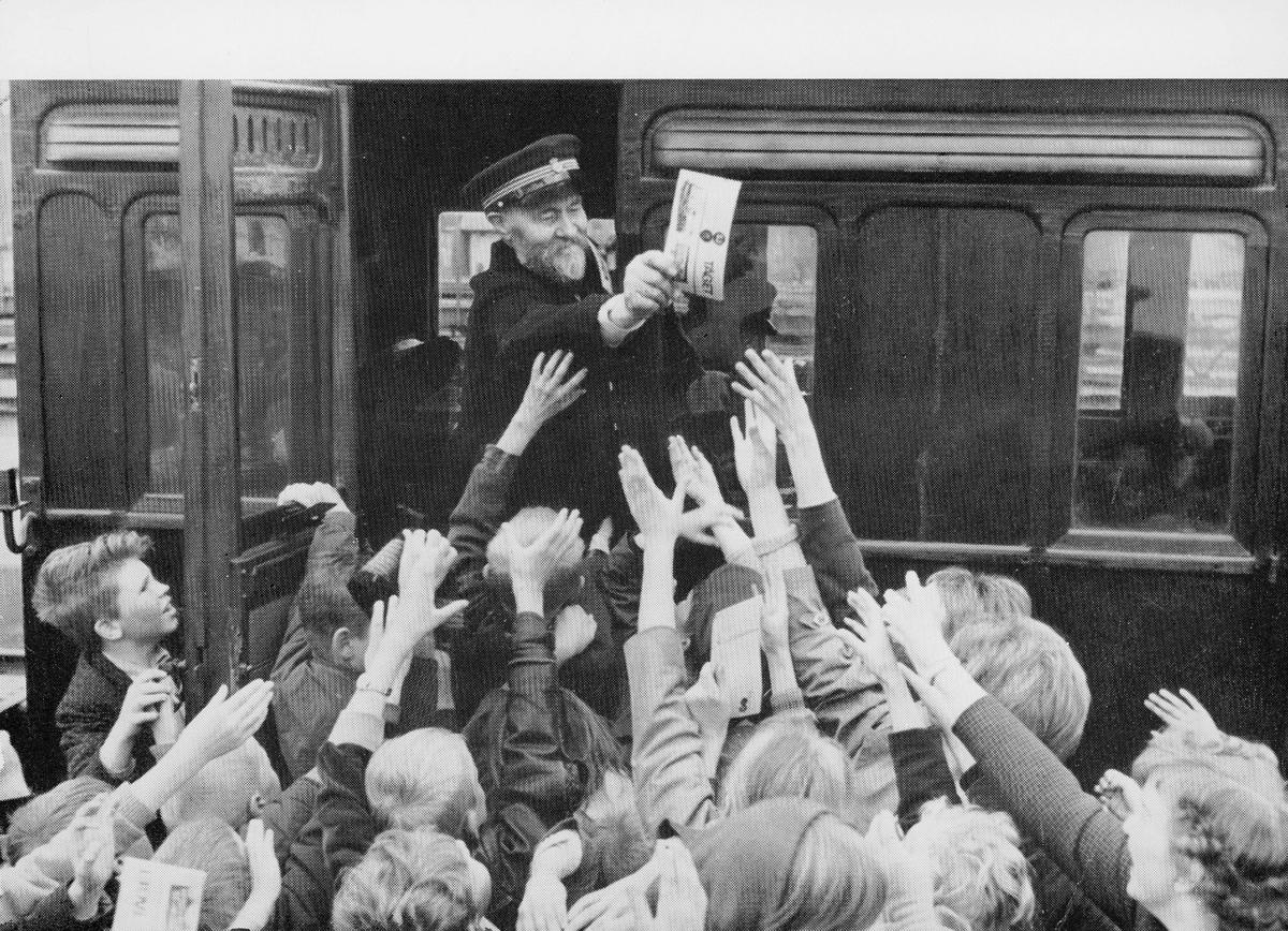 transport, tog, eksteriør, konduktør