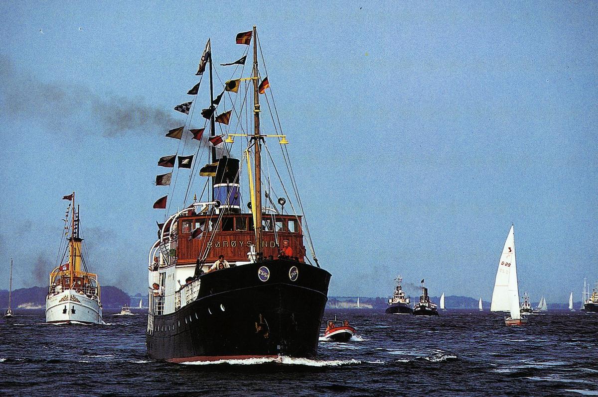transport, båt, postførende dampskip, D/S Børysund i farvannet rundt Schleswig og  Flensburg
