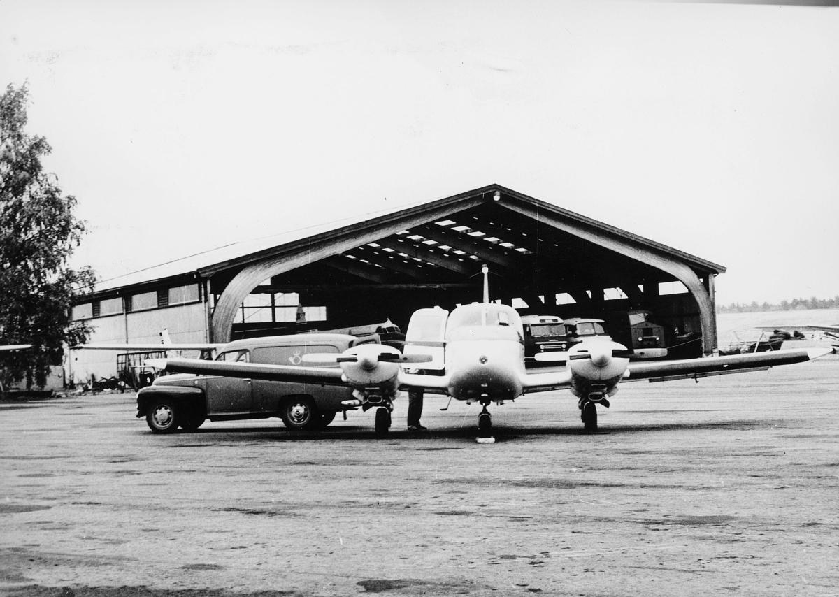 transport, fly, eksteriør, på bakken, postbil