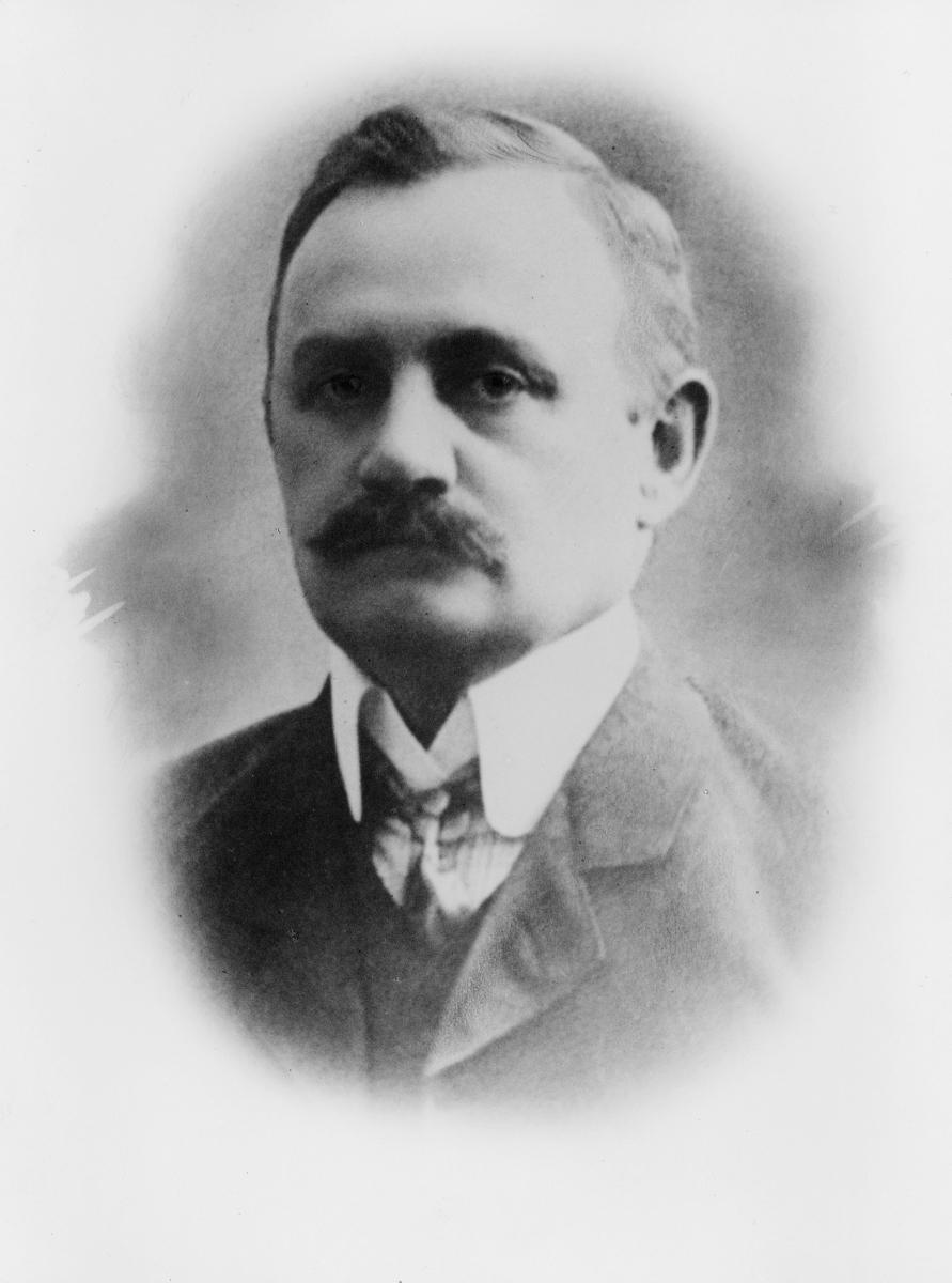 portrett, postmester, Carl Falcke