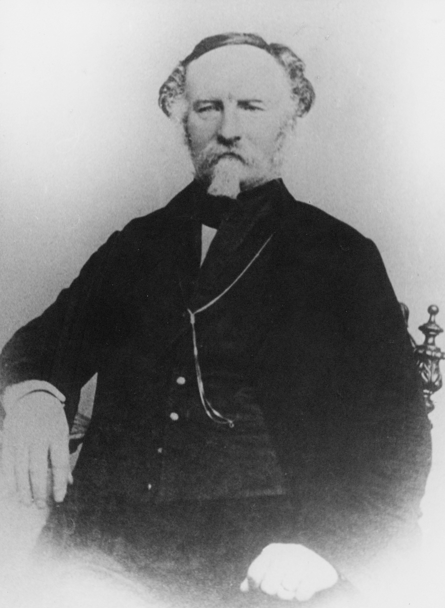 postmester, Scharffenberg Ulrik Ditleff, portrett