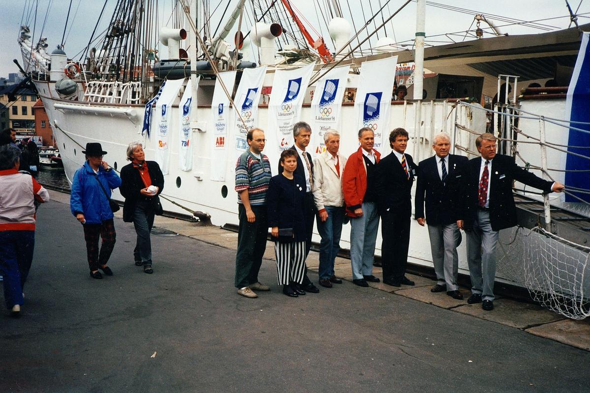 94 OL, Birkebeiner lauget, båt, menn, kvinner