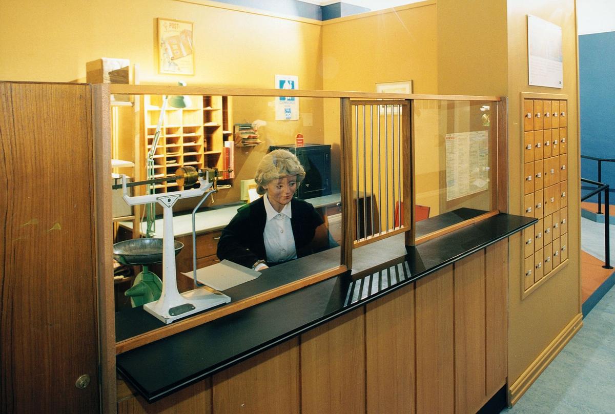 Postmuseet, Oslo, utstilling, postkontor fra 1950 årene