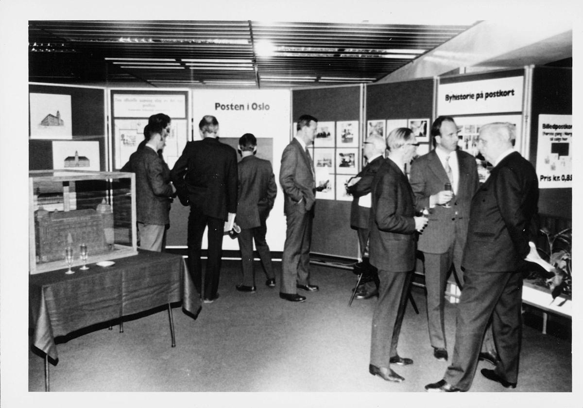 markedsseksjonen, Oslo postgård 50 år, utstilling, byhistorie, mennesker, modell i monter