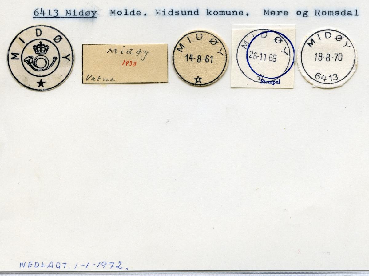 Stempelkatalog 6413 Midtøy, Midsund kommune, Møre og Romsdal