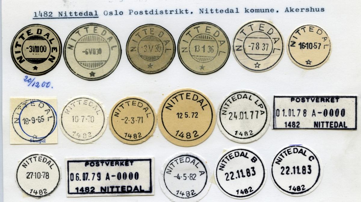 Stempelkatalog  3725 Nisterud brevhus II, Skien, Skien kommune, Telemark