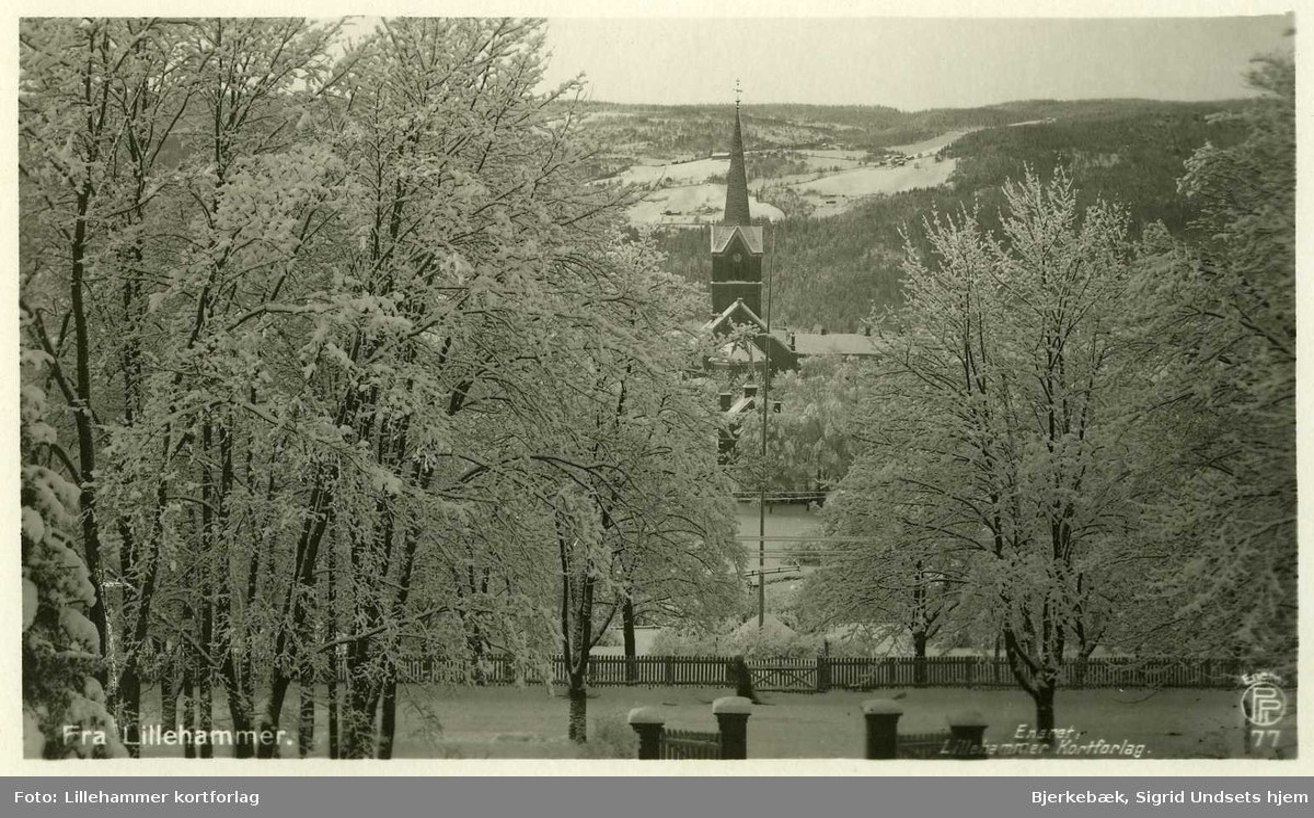 Kirke, landskap, vinter