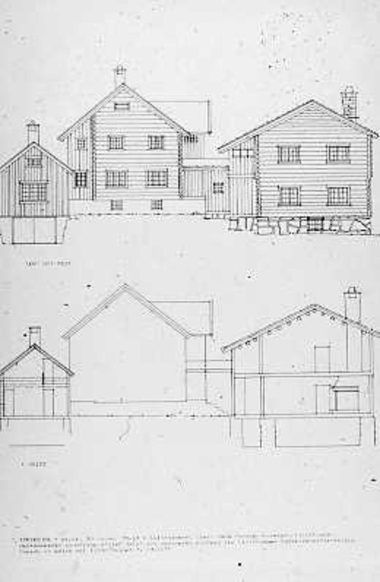 Hustegninger, ombygging, fasadetegning