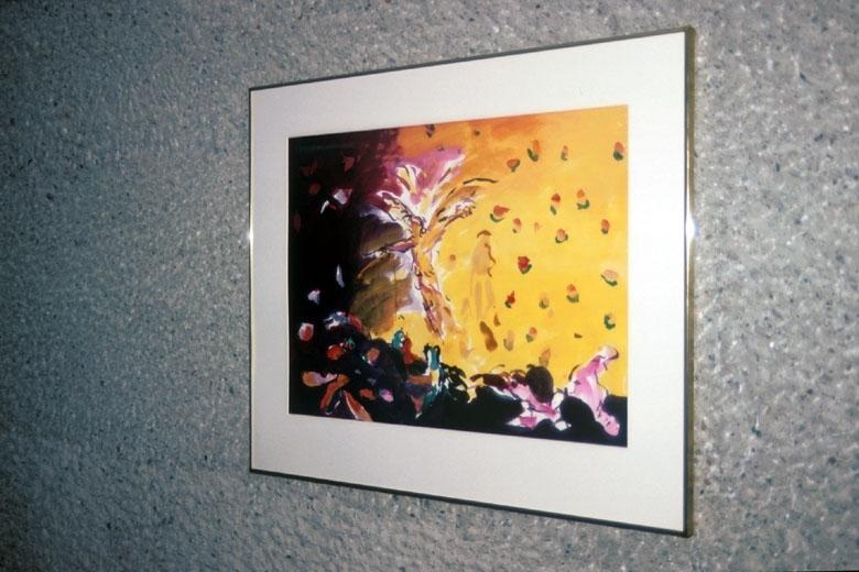 Flygeøvelse [Maleri - Akvarell]