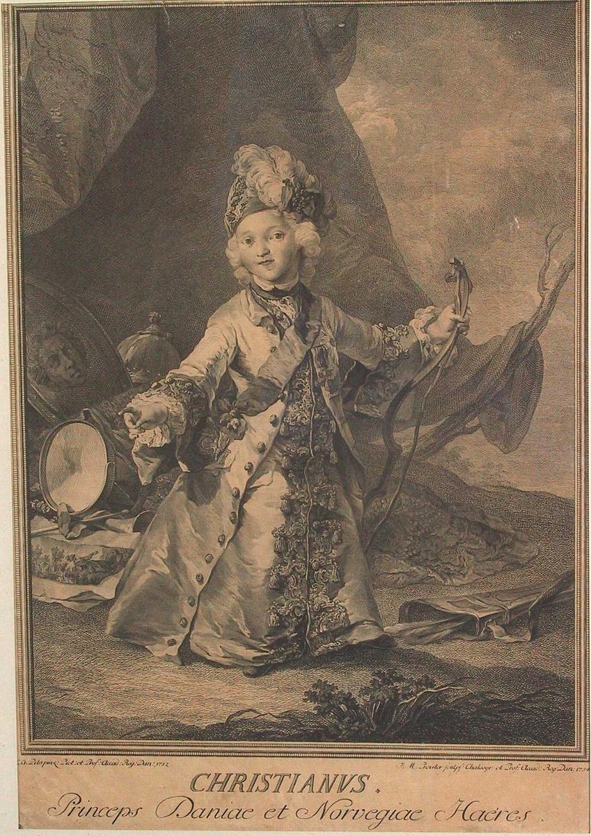 Portrett av Christian VII som barn,