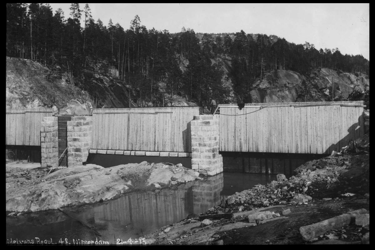 Arendal Fossekompani i begynnelsen av 1900-tallet CD merket 0446, Bilde: 60 Sted: Småstraumene Beskrivelse: Regulering