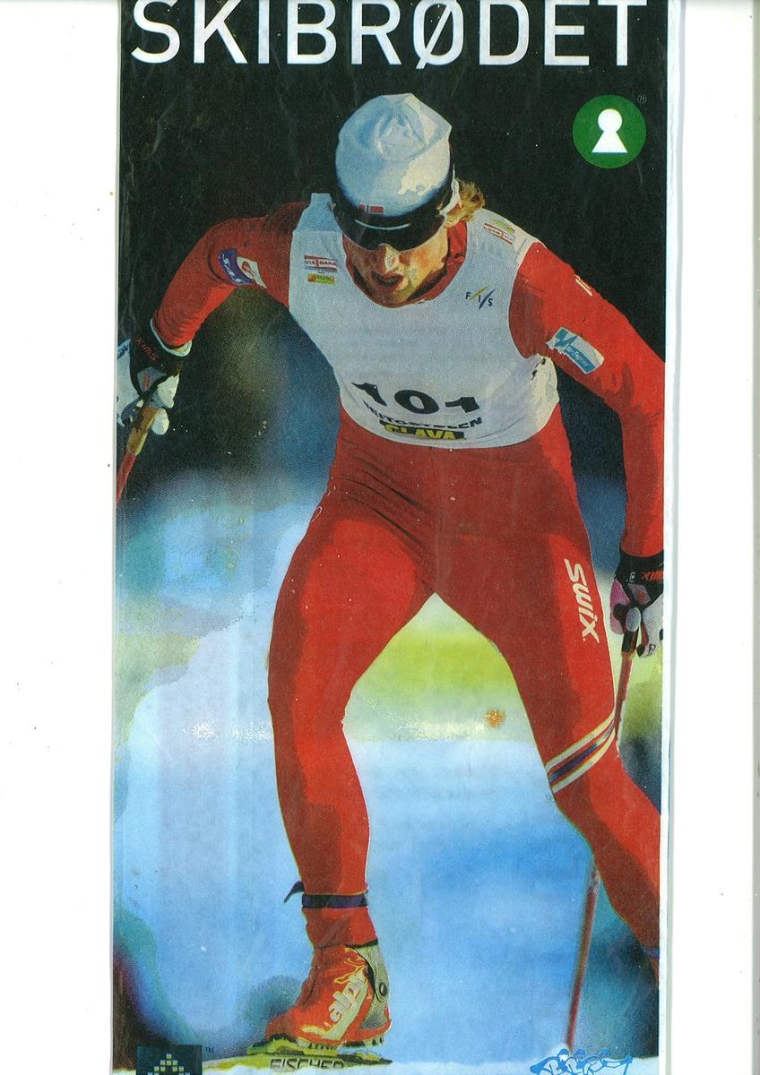 På brødposens forside er det en langrensløper. Han har startnummer 101 og deltar i et renn. Han bruker masse krefter. Han har rød drakt, hvit lue, skibriller og røde støvler. På brødposens bakside er det et brystbilde fotografi av Petter Northug kledt i skidress. Nederst på baksiden er det et fotografi av et barn i skidress og lue. Barnet står med staver i snøen.