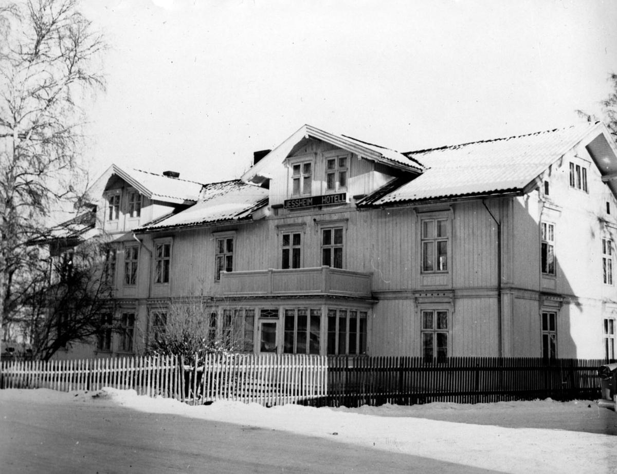 Jessheim hotell som ble bygd i 1875 og revet i 1988.