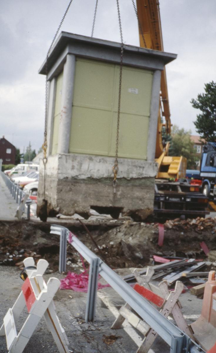 Kabelarbeid og utskifting av transformator. Wessels plass/Gjerdrumsgata